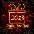 Happy New Year 2013 in present box — Stock Photo
