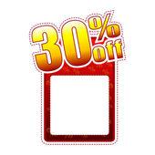 Trzydzieści procent etykiety z miejsca na tekst — Zdjęcie stockowe