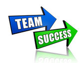 Team and success in arrows — Stock Photo