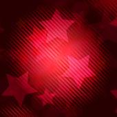 Resumen fondo rojo con rayas estrellas — Foto de Stock