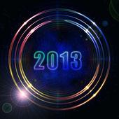 Year 2013 in shining golden rings — Stock Photo