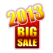 Velký výprodej rok 2013 popisek — Stock fotografie