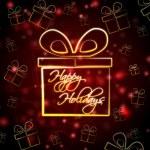 Happy holidays in present box — Stock Photo #15482047
