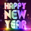 Happy new year in colored figures — Stock Photo