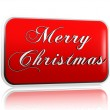 Red banner Merry Christmas — Stock Photo