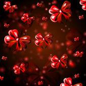 红丝带与抽象背景 — 图库照片