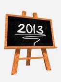 Year 2013 on blackboard — Stock Photo