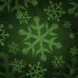 Abstract green background with snowflakes — Stock Photo