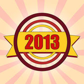Year 2013 in colored circles — Stockfoto