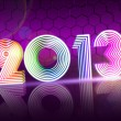 Year 2013 in colored shining figures — Stockfoto