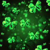 Abstract background with green ribbons — Stock Photo