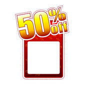 50 porcentaje de etiqueta con espacio de texto — Foto de Stock