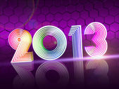 Year 2013 in colored shining figures — Stock Photo