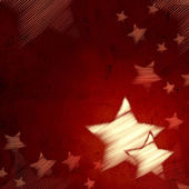 Resumen fondo rojo con estrellas — Foto de Stock