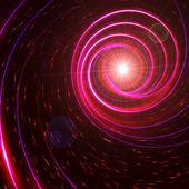 Stjärniga med rosa och violett spiraler — Stockfoto