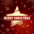 Royalty-Free Stock Photo: Merry Christmas in striped star symbol over red background with
