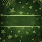 Abstrakte grünem hintergrund mit sternen und marai — Stockfoto