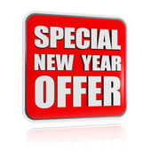 Special New Year offer red banner — Stock Photo
