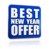 Best New Year offer blue banner — Stock Photo