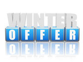 Winter offer - letters and block — Foto Stock
