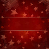 Abstract red background with stars and text space — 图库照片