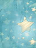 Abstract blue background with striped stars, vertical — Stock Photo