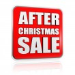 Stock Photo: After christmas sale banner