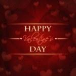 Счастливый день Святого Валентина Красный ретро карта — Стоковое фото