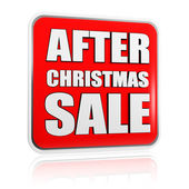 After christmas sale banner — Stock Photo