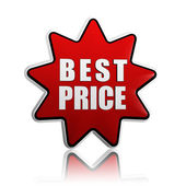 Best price in red star — Stock Photo