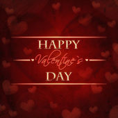 Happy valentines day red retro card — Stock Photo