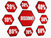 Discount and percentages buttons — Stock Photo