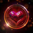 Royalty-Free Stock Photo: Shining disco heart