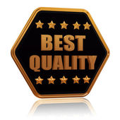 Best quality five star hexagon button — Stock Photo