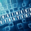 Business strategy in blue glass blocks — Stock Photo