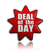 Deal of the day in red star — Stock Photo
