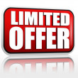 Limited offer -  red banner — Zdjęcie stockowe