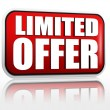 Limited offer -  red banner — Foto de Stock