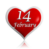 14 February red heart — Stock Photo