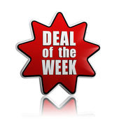 Deal of the week red star — Stock Photo