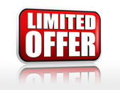 Limited offer - red banner — Stock Photo