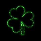 Shining green trefoil — Stock Photo