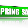 Royalty-Free Stock Photo: Spring sale green banner