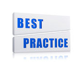 Best practice in white blocks — Stock Photo