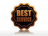 Best service in black starlike label — Zdjęcie stockowe