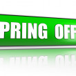Spring offer green banner — Stock Photo