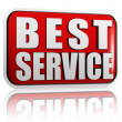 Best service in red banner — Stock Photo