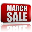 March sale red banner - Stockfoto