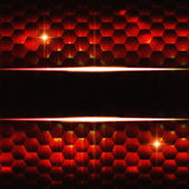Abstract black red hexagons background with text space — Stock Photo