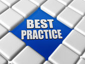 Best practice in boxes — Stock Photo